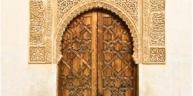 Beautiful Islamic art above a door-frame